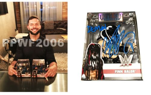 WWE FINN BALOR HAND SIGNED METAL DIE CAST M275 ACTION FIGURE WITH PROOF AND COA