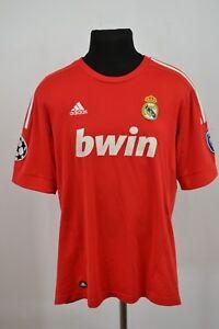 RARA REAL MADRID THIRD FOOTBALL SHIRT 2011 - 2012 TAGLIA L JERSEY CALCIO ADIDAS