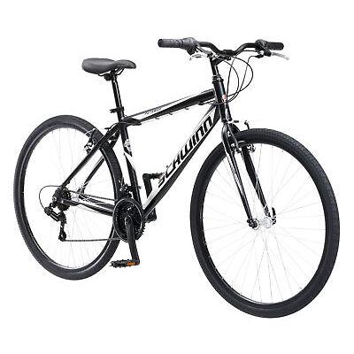 SCHWINN HYBRID BIKE Black 700C Men?s Cruiser Alloy Frame Road Bicycle NEW