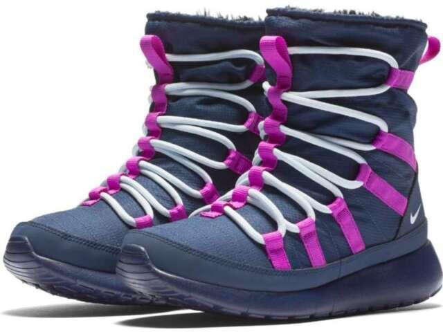 half off 5ef0e de56e Girls Nike Roshe One HI (GS) 807758-407 Midnight Navy Brand New Size
