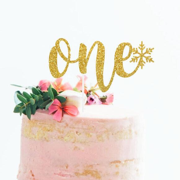 Peachy Glitter One Cake Topper Baby Girl Boy 1St Birthday Decoration Birthday Cards Printable Nowaargucafe Filternl