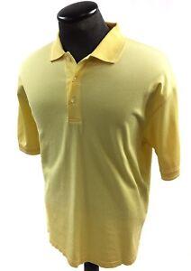 Turnbury-Yellow-Mens-S-S-Polo-Shirt-Size-Large-100-Cotton