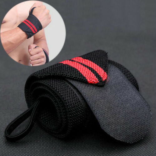 Gym Bodybuilding Wrist Support Wrap Weight Lifting Bar Strap Bandage Knee Wraps