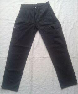 Pantalon-Rayure-Gris-et-Noir-pour-Femme-taille-39cm
