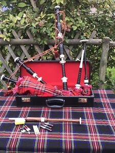Great-Highland-Bagpipes-Full-Imitation-Mounts-Scottish-Bagpipe-Tutor-Book-Case