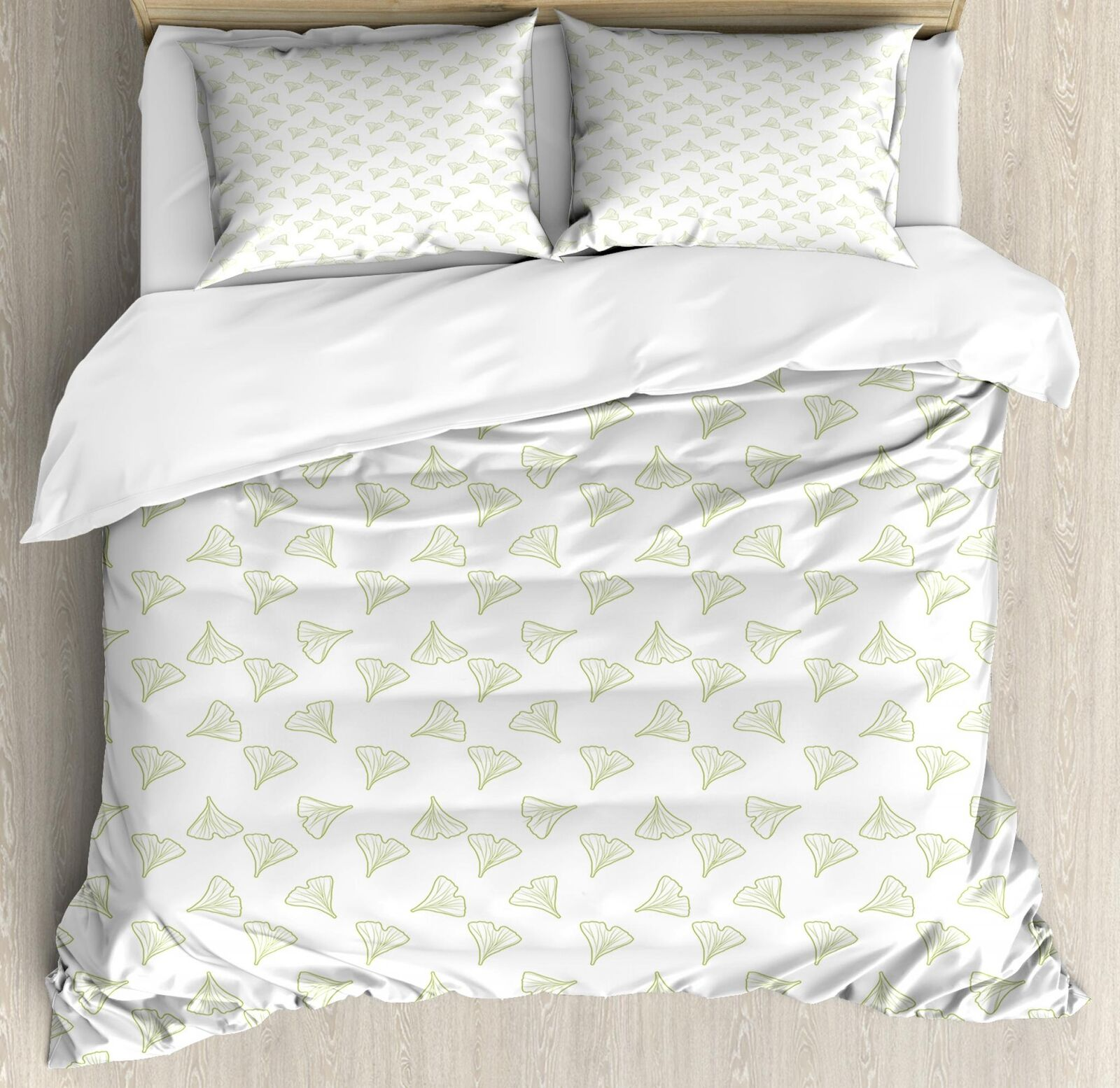 Gingko Duvet Cover Set Twin Queen King Größes with Pillow Shams
