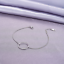 Real 925 Sterling Silver Circle Bracelet Chain Bangle SOLID SILVER Jewelry