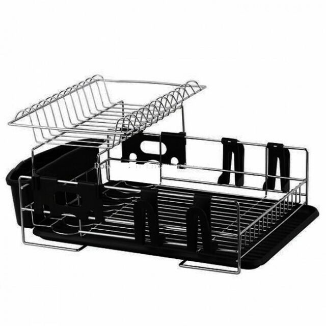 NEW D.Line Stainless Steel Two Tier Dish Rack