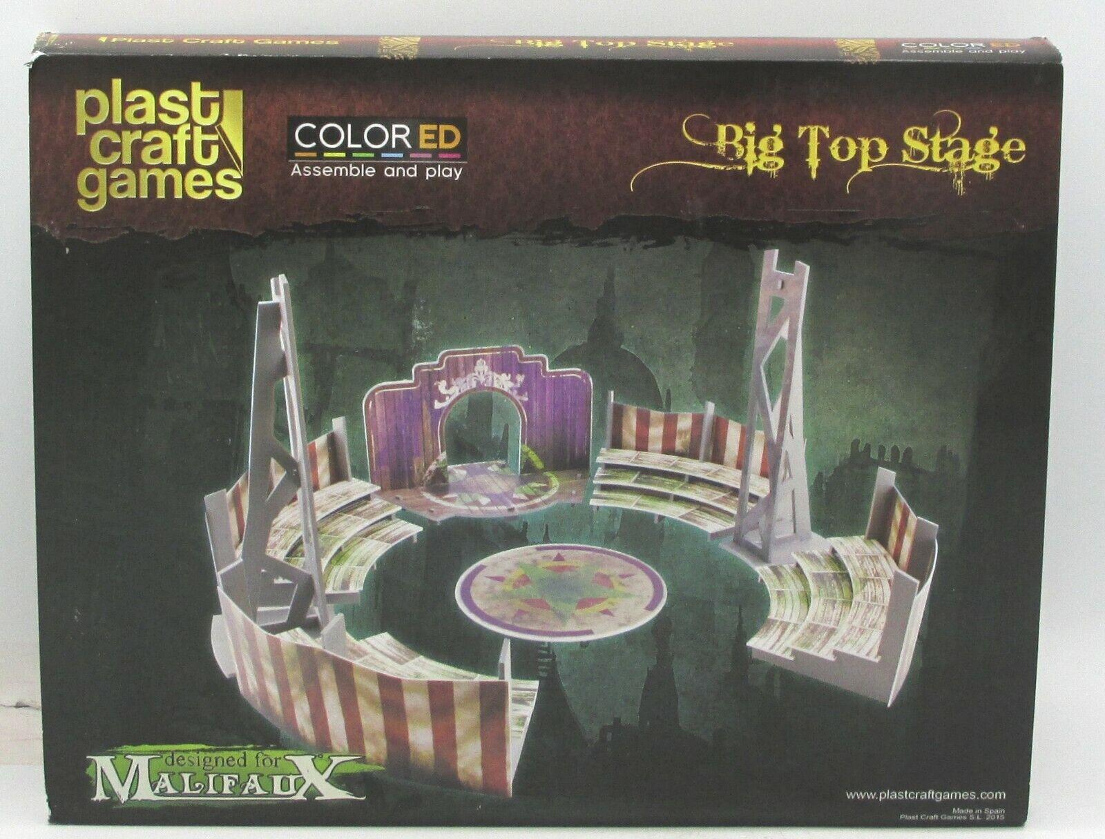 Plast Craft Games MF014 Big Top Stage (Malifaux ) colorEd Terrain Set Circus NIB