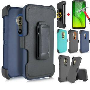 For Motorola Moto G7 Optimo Maxx Case Belt Clip Fits Otterbox Screen Protector Ebay