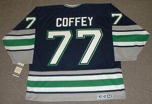 f544e4932 PAUL COFFEY Hartford Whalers 1996 Away CCM Vintage Throwback NHL ...