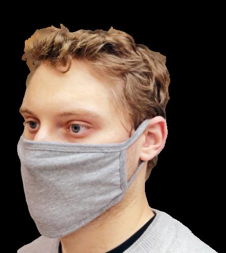 10X Grey Face Mask Reusable Washable Cotton Breathable 3Layere Adult & Unisex