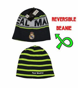 a83b6ba153f Image is loading Real-Madrid-Beanie-Reversible-Skull-Cap-Hat-New-