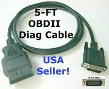 15 Pin Male Obd2 Obdii Cable Compatible With Autel Maxidiag Elite Md802 Scanner