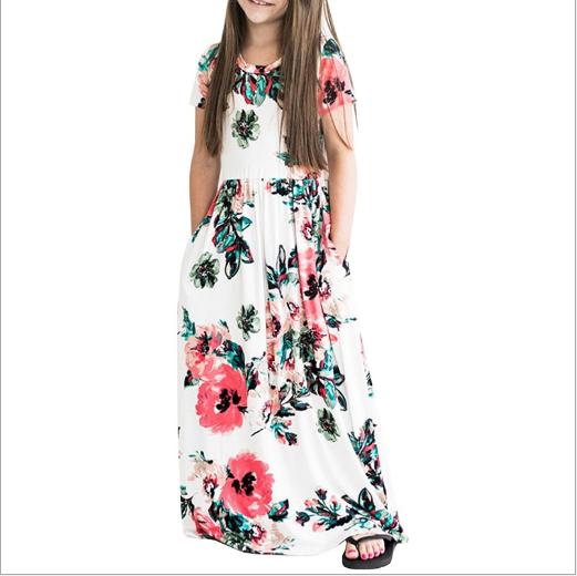 2-8Y YF104 Girls Dress Princess Party Sleeveless Bow Stripe Skirts SZ
