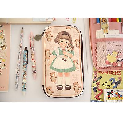 Afrocat Paper Doll Mate Multi Pen Pouch Ver 3 Cosmetic Organizer Bag Pencil Case
