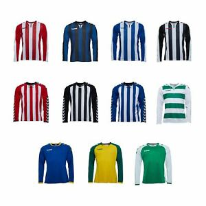 Hummel-Long-Sleeve-Football-Shirt-Mens-Soccer-Jersey-Top-T-Shirt
