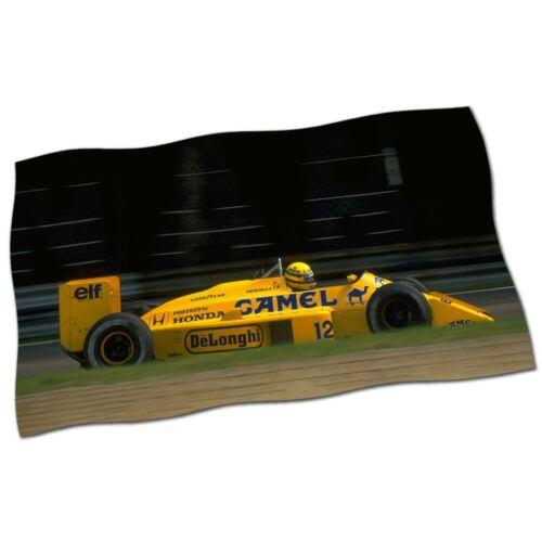 "Ayrton Senna Flag Banner 28/"" NEW Formula 1 GP Camel Honda Lotus Fabric Poster #5"