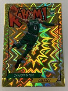 2018 Panini Basketball Jayson Tatum Kaboom Gold 09/10 Rookie RC Boston Celtics