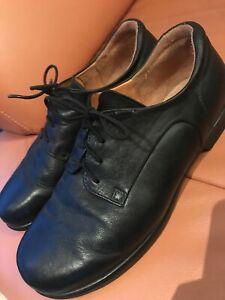 Details zu Herren Lederschuhe, schwarz, Gr. 42, Think für Einlagen, Wechselfussbett Schuhe
