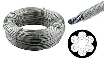 Stahlseil verzinkt 6x7 Drahtseil Drahtseile Draht Rolle DIN 3055 Neu
