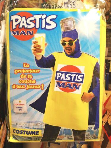 Déguisement Pastis Man Bouteille Humoristique Tunique taille Unique M//L 50//54