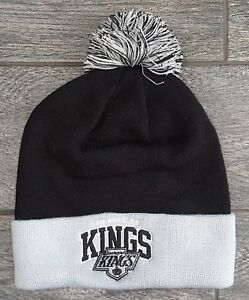 c49c5b9e9d0 Mitchell and Ness Los Angeles Kings Pom Beanie Headwear Knit Hat NHL ...