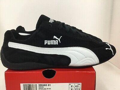 Puma Speed Cat SD US Mens sneaker Style# 300483 01 black/white | eBay