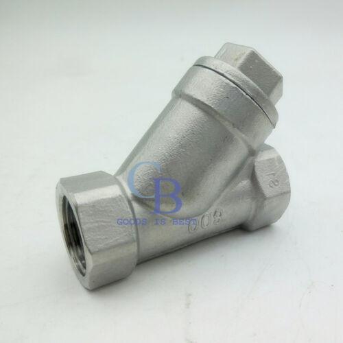 "1/"" DN25 BSP 201 Stainless Steel Strainer Booster Pump Inline Y Filter"
