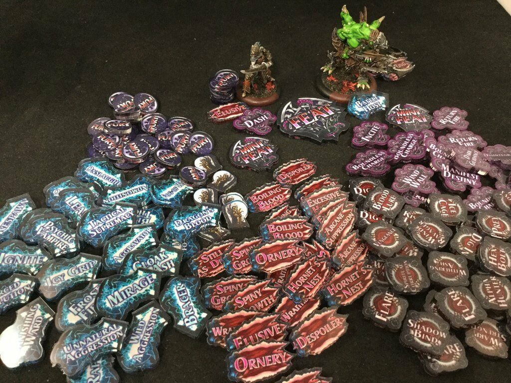 Hordes  Legion of Everblight Acrylic Tokens - Muse on Minis - Free Shipping