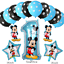 Disney-Mickey-Minnie-Mouse-Birthday-Foil-Latex-Balloons-Blue-Pink-Number-Sets thumbnail 2