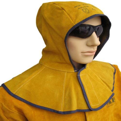 Leather Welding Helmet Protector Welding Hood with Neck Shoulder Drape Cowhide