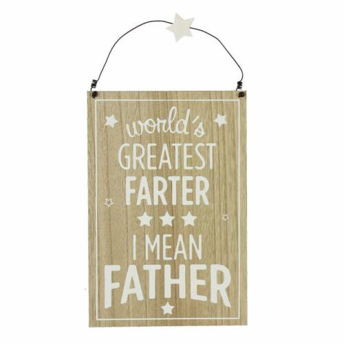 Gift For Dad Vintage Style Hanging Plaque Worlds Greatest Farter 62231