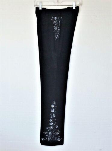 Sort Designs Lopez Slacks Colleen Sequin Nye 4 Sz Floral Grey Kvinder Bukser nxSBBd86