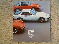 1978 Porsche Full Line (Range) Showroom Advertising Folder Brochure RARE 1909.20