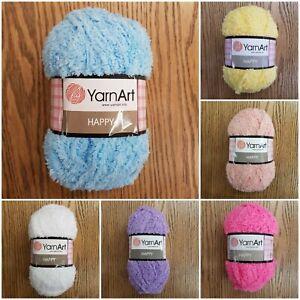 YarnArt-Happy-Chunky-Fluffy-Sparkly-Teddy-Knitting-Yarn-choose-colour