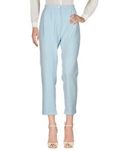 Pantaloni-Donna-BLUGIRL-FOLIES-Made-in-Italy-I196-Affusolato-Celeste-Tg-42-44