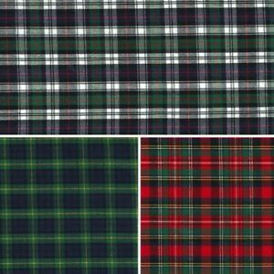 100-Cotton-Fabric-Yarn-Dyed-Fashion-Tartan-Check-Plaid
