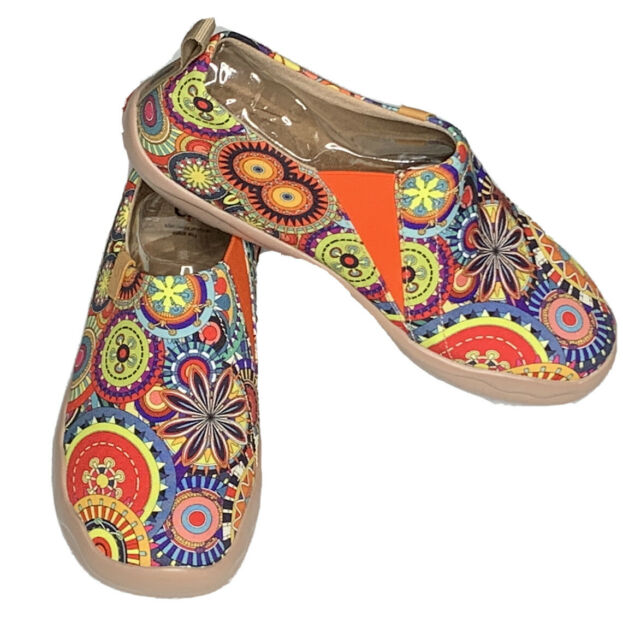 "UIN Art Of Walk Canvas ""Blossom"" Slip On Shoes~US 9/EU 41 Boho Airy ($70) NIB"