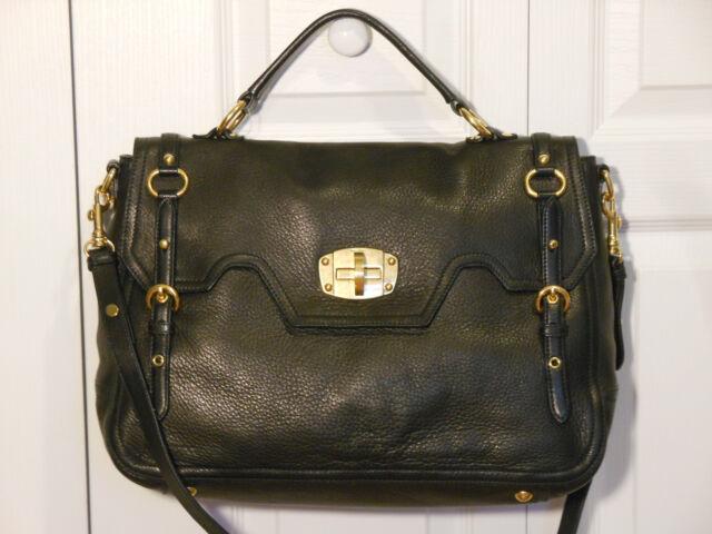 0a435899c88c NEW Auth Miu Miu by Prada Large Cervo Turnlock Flap Satchel Shoulder Bag  Handbag