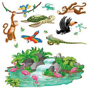 party supplies birthday hawaiian luau tropical animals cutouts ebay
