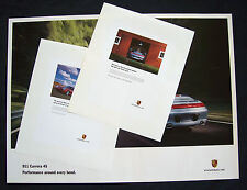 PORSCHE OFFICIAL 911 996 CARRERA 4S  SHOWROOM POSTER SET OF THREE 2002-03