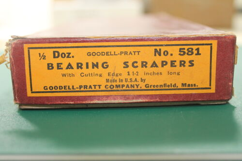 NOS GOODELL-PRATT USA No 581 Bearing Hand Scraping Scraper Broad Arrow WR12aE5