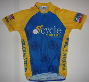 VOLER CYCLE FOR LIFE WHEELS IN MOTION S S CLUB RAGLAN Cycling Jersey ... 4237e4546