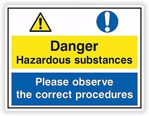 1 X Hazardous Substances Veuillez Observe La Bonne Procédures Sticker Hzzyyrge-07224157-731432827