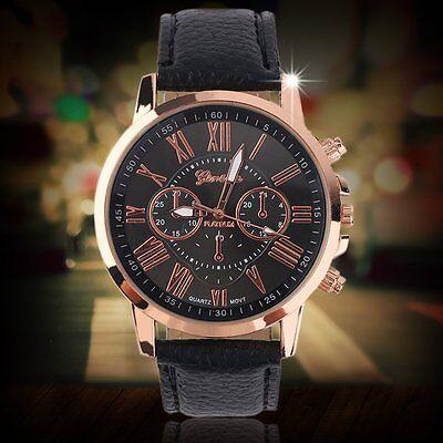 Fashion Women Ladies leather Stainless Analog Quartz Analog Wrist Watch Hot S3