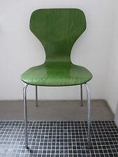 70er PHOENIX Denmark Design Stuhl Schichtholz Stahlrohr Konferenzstuhl stapelbar