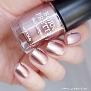 Image Is Loading 9ml Metallic Nail Polish Rose Gold Mirror Effect