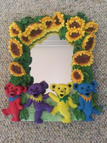 Grateful Dead Dancing Bears Mirror Rare Framed Jerry Garcia Art & Accessories