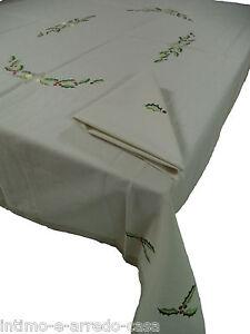 Tovaglie-Natalizie-da-6-e-8-posti-con-tovaglioli-Cotton-Joy-100-Cotone